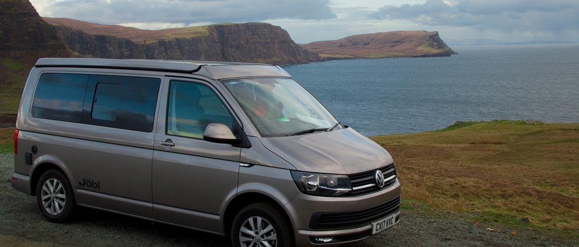 Travel Scotland in our stylish new VW Campervans