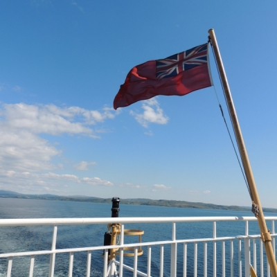 Waving the flag for Scotland and Calmac