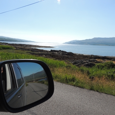 VW Campervan on the Open Road in Mull