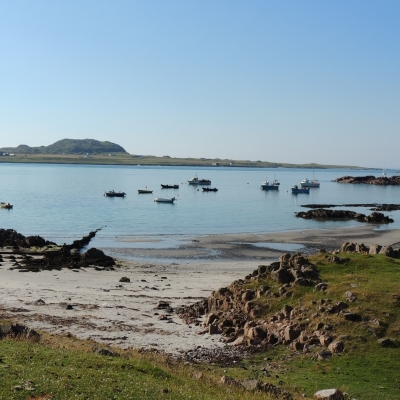 Tranquil evening at Fionnphort looking over to Iona