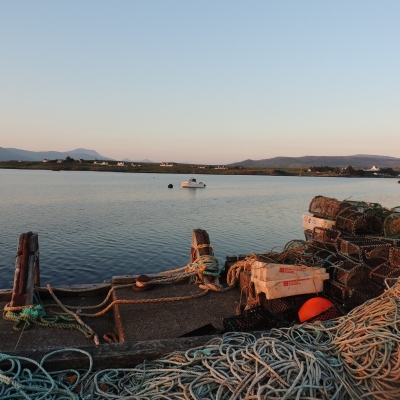 Fisherman's ropes at Bunessan Mull, Scotland