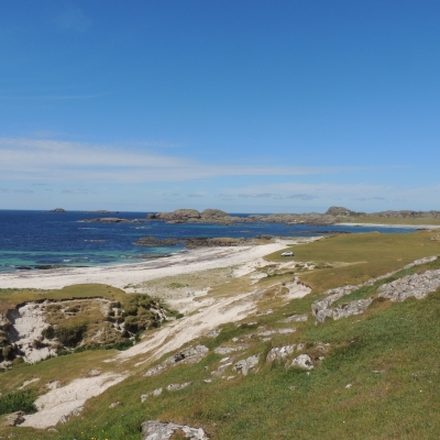 Iona's white sand beaches, Scotland