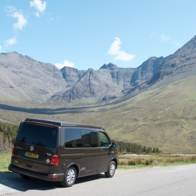 Open Road in a VW Campervan, Scotland