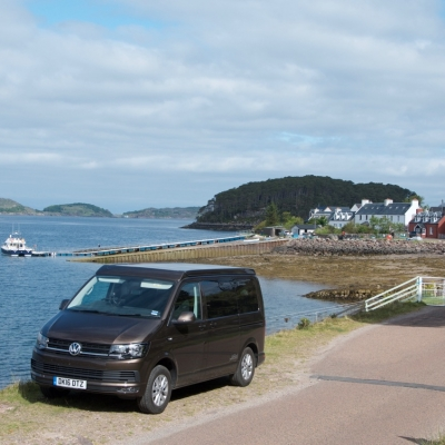 VW Campervan waiting for the ferry