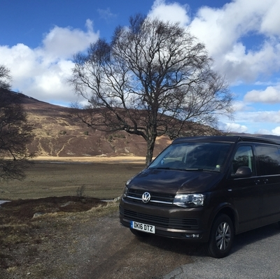 VW Campervan in Braemar