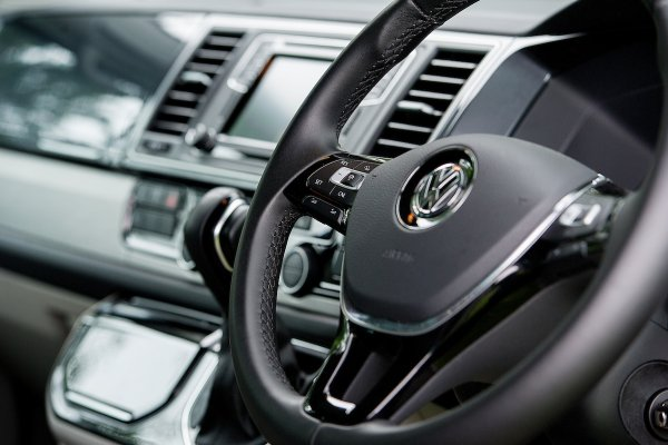 VW California Steering Wheel and Dashboard