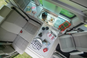 VW California Ocean Dining Area and Kitchen