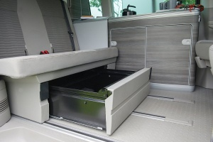 VW California Ocean Storage for awning and equipment