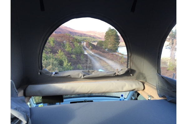 Our campervan offers spacious roof bed