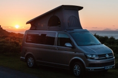 VW Campervan Hire Scotland for  the best camping sunset