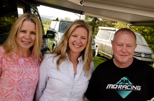 Campervan staff who enjoy luxury camping