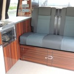 Our rental Campervan rear seats convert to double bed
