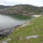 Wild camp beside the amazing beaches in Sutherland on a campervan holiday