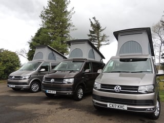 Our VW campervan hire glasgow fleet of campervans