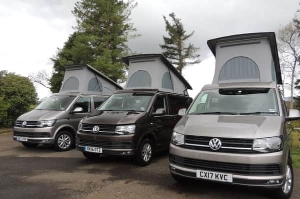 Campervan booking for VW Campervans near Glasgow