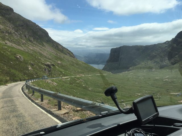NC 500 driving over Bealach na Ba to Applecross North Coast 500