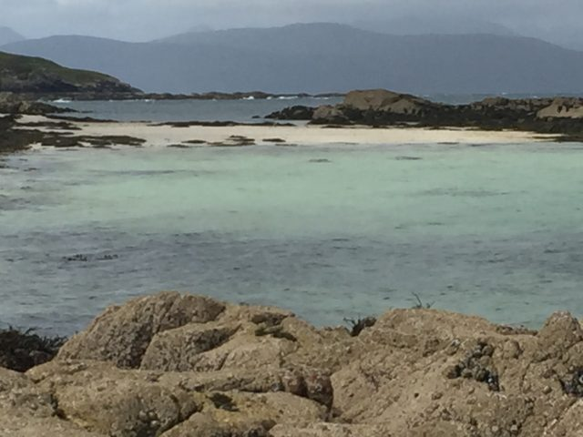 Best beaches Scotland at Coral Bay near Applecross on NC 500, North Coast 500
