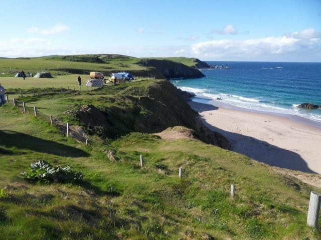 Campsites open all year around NC500, Sango Sands at Durness - North Coast 500