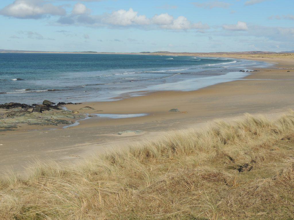 Campsite beside beach on Islay