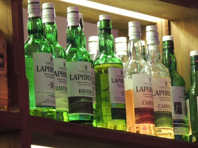 Laphroaig whisky in Scotland