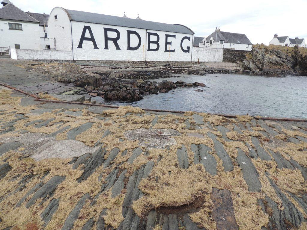 Ardbeg Distillery from shoreline