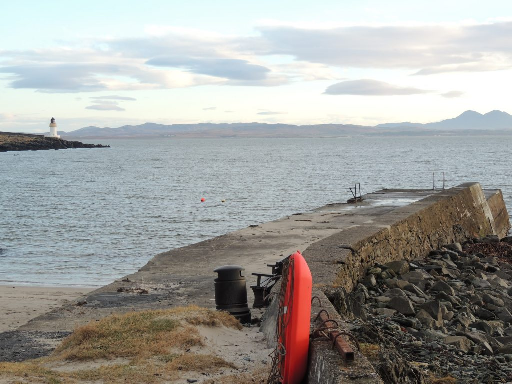 Harbour and lighthouse at Port Charlotte, Islay