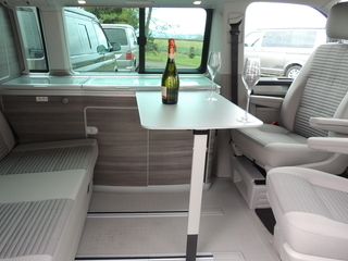Dine in style in our VW California Ocean campervan