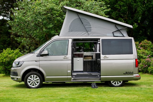 campervan hire Scotland in a VW Jobl