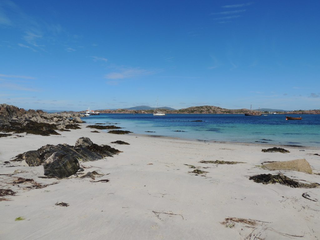 Iona landscape for artists for white beaches