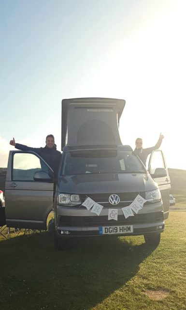 Buy a campervan gift voucher for wedding present