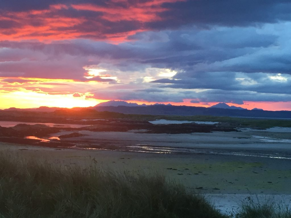 Arisaig beach sunset