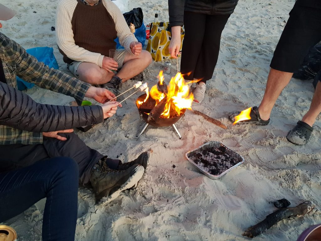 Camp Fire campervan hire Scotland