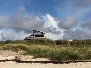 Mull camping beach