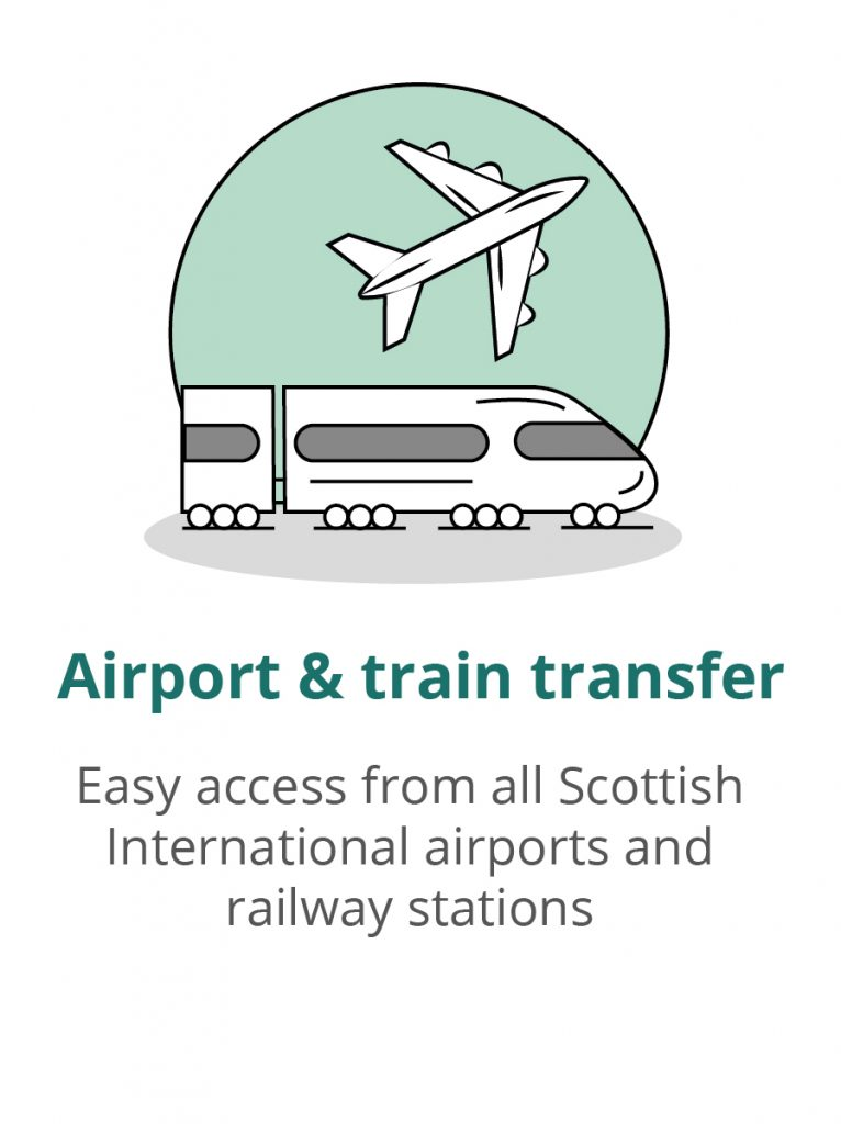 Airport and train transfer for Scottish international airports and railway stations